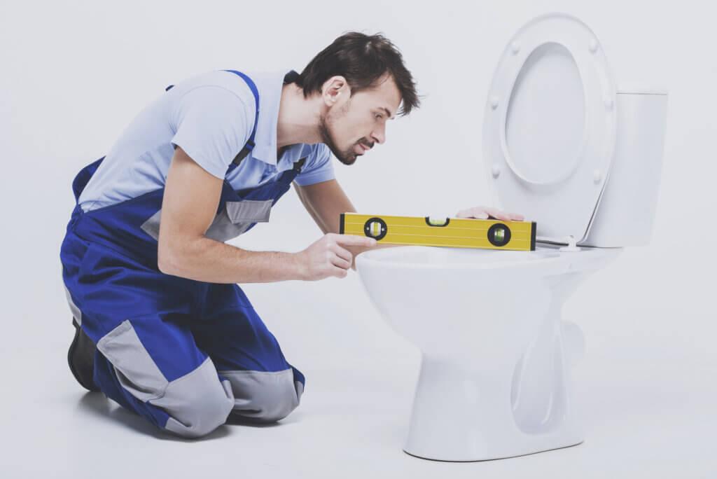 Montering af toilet