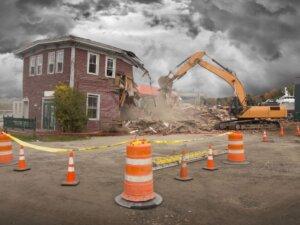 kommunal tilskud nedrivning